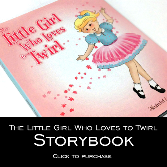 The Little Girl Who Loves to Twirl Illustrated by Biljana Kroll