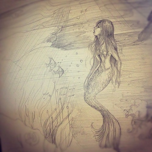 Biljana Kroll's Portfolio: Mermaid Sketch 1