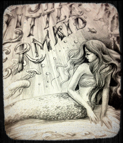 Biljana Kroll's Portfolio: Mermaid Sketch 4