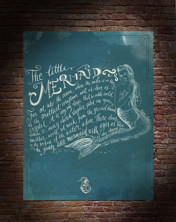 Biljana Kroll's Portfolio: The Little Mermaid Calligraphy Poster