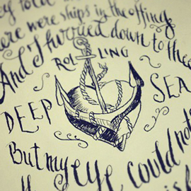 Sailor Song Calligraphy