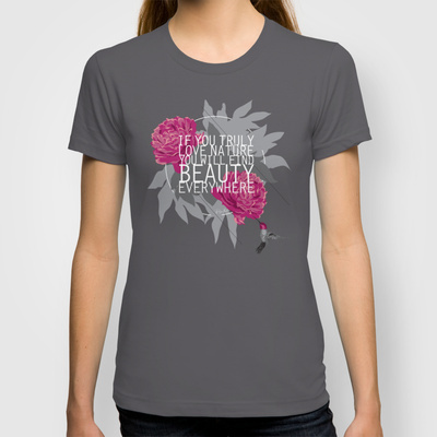 Biljana Kroll's Portfolio: Finding Beauty Typographical T-Shirt Design