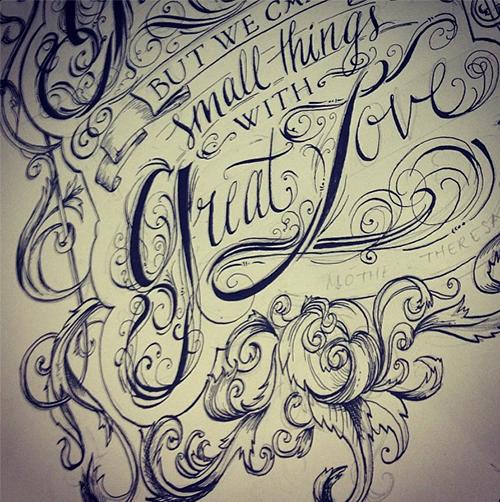 Portfolio of biljana kroll sketchbook lettering biljana krolls portfolio lettering sketch of a quote 1 altavistaventures Choice Image